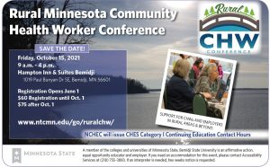 Friday, October 15: Rural Minnesota Community Health Worker Conference