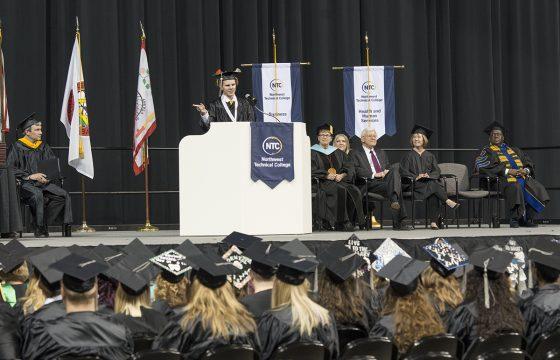 Northwest Technical College 2018 Commencement Ceremony Student Speaker