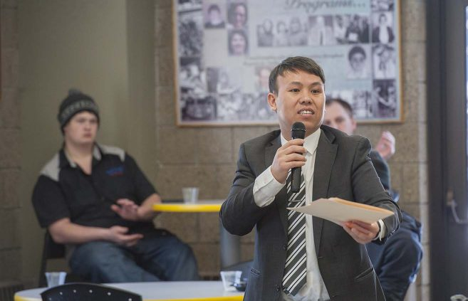 Dr. Brian Xiong, coordinator of the Center for Diversity, Equity and Inclusion at BSU and NTC.
