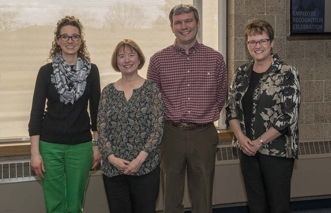 Kari Kantack Miller (far left) was recognized for 10 years of service to NTC.