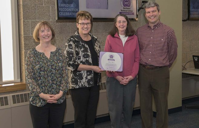 Pam Stowe (2nd from right) won NTC's Distinguished Service Award and was recognized for her upcoming retirement after 20 years of service.