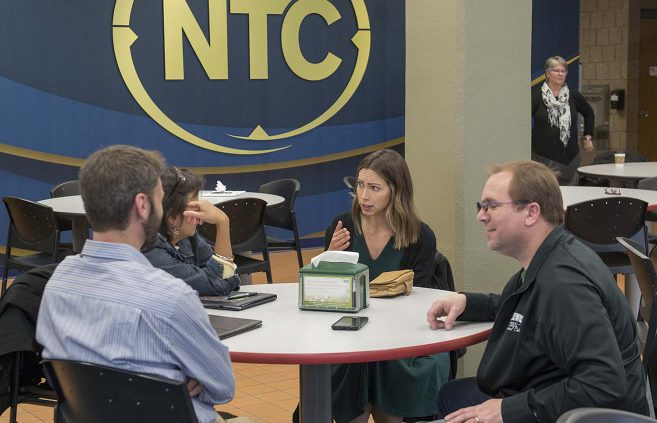 Faculty, staff and administrators in attendance at the May 9 unveiling of NTC's 2018-2023 strategic plan.