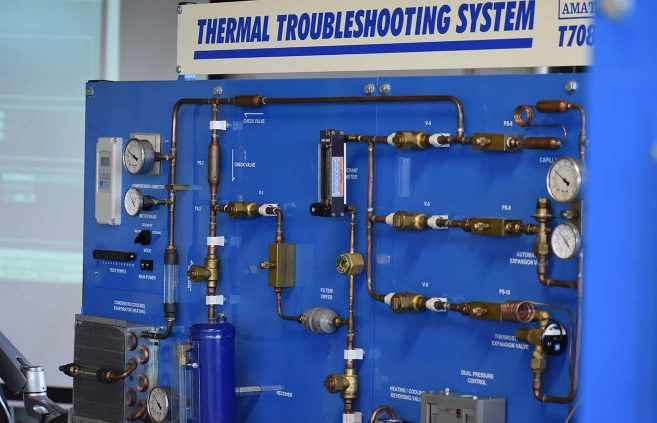 Thermal Troubleshooting System in NTC's Sustainable Environmental Technologies Center.