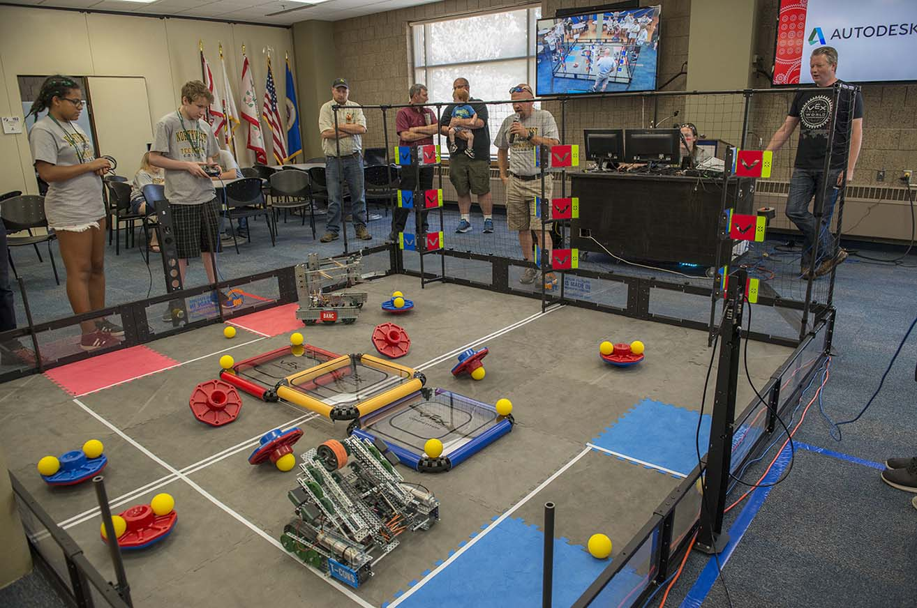 2018 VEX Robotics Camp at NTC Wraps with Turning Points Competition