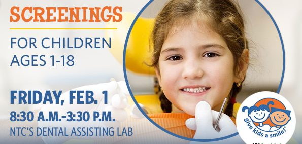 Free dental screenings for kids 1-18 with Give Kids a Smile. Call 218-556-3666 to make an appointment