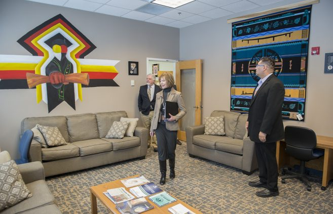 U.S. Senator Tina Smith (D-MN) visits Bemidji to meet with NTC & BSU students, faculty and administrators.