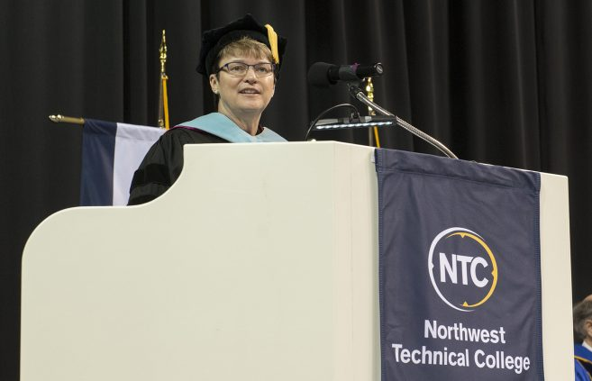 President Faith C. Hensrud.