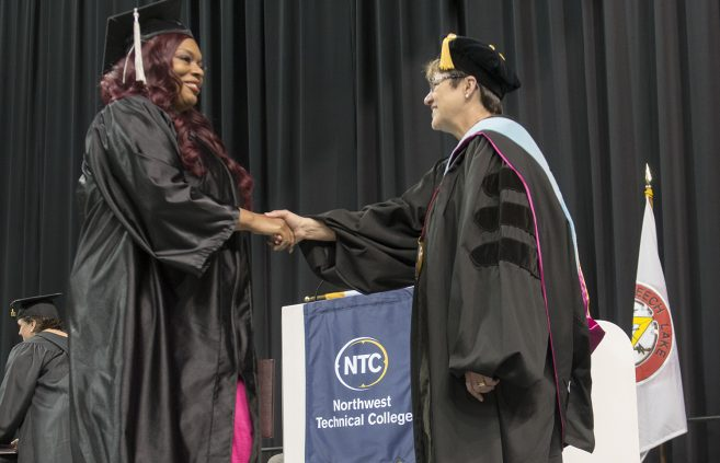 Graduates received their degrees, diplomas and certificates at NTC's commencement ceremony.