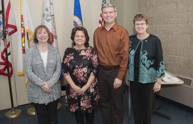 Doreen Kuhrke, administrative assistant, was recognized for 30 years of service to NTC.
