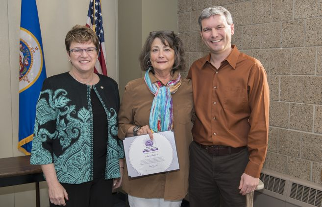 Sue Sutton, medical administrative assistant faculty, received the Distinguished Service Award.