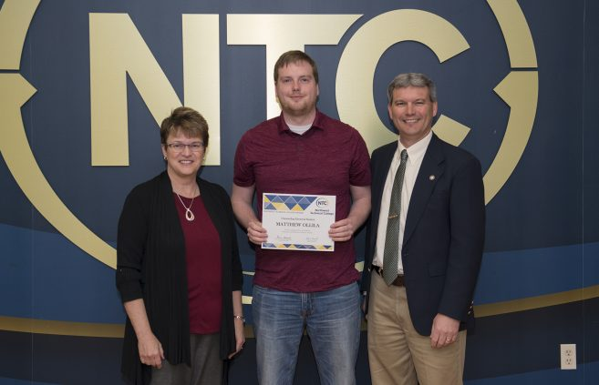 Matthew Ollila, a sophomore from Bemidji, Minn. won the Outstanding Electrical Student Award.