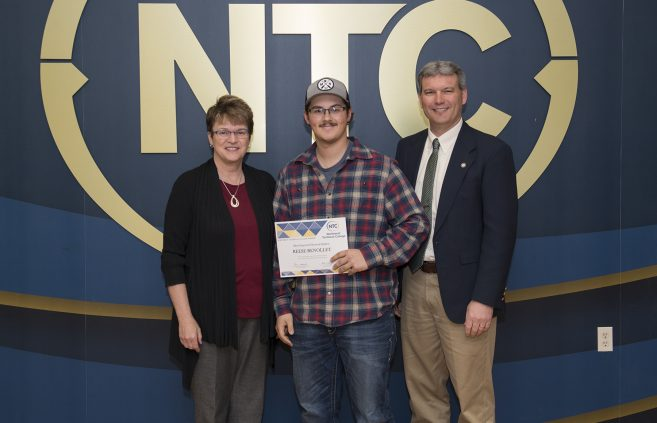 Reese Renollet, a sophomore from International Falls, Minn. won the Most Improved Electrical Student Award.