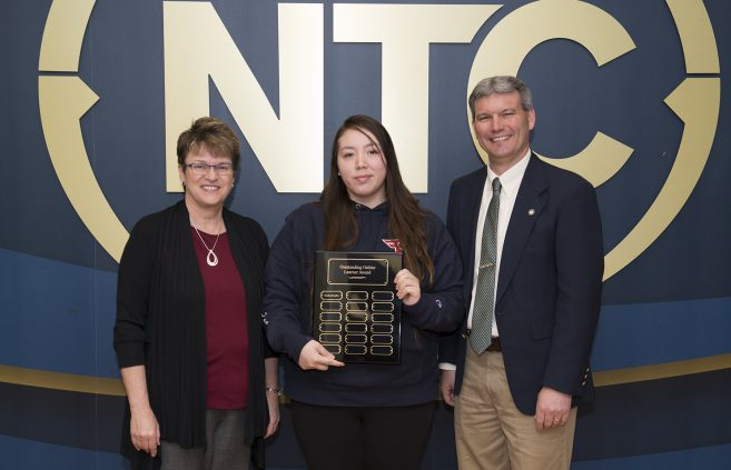 Tanisha Beaulieu, a sophomore from Red Lake, Minn. won the Outstanding Online Learner Award.