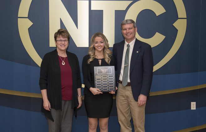 Hannah Hoven, a sophomore from Bemidji, Minn. won the Student Worker of the Year Award.
