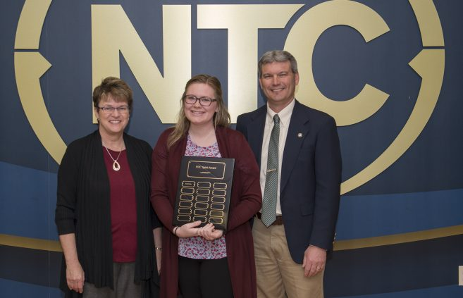 Sadie Fraley, a sophomore from Northome, Minn. won the NTC Spirit Award.
