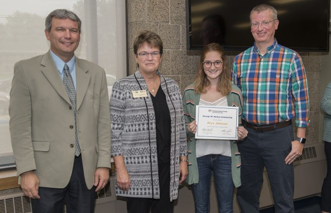 Alyx Johnson received the George W. Neilson Scholarship.