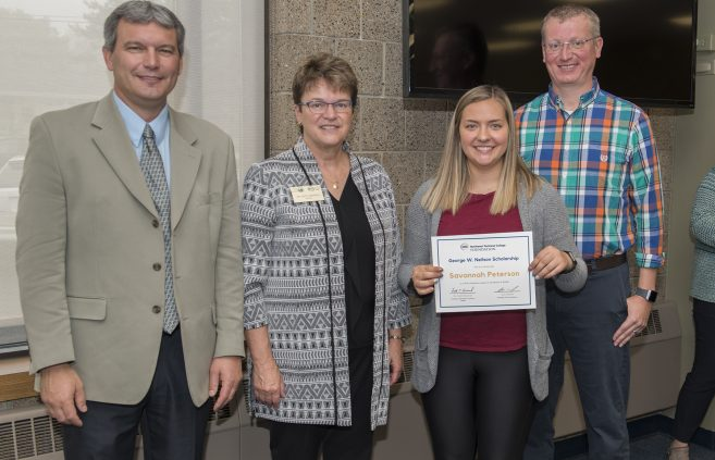 Savannah Peterson received the George W. Neilson Scholarship.