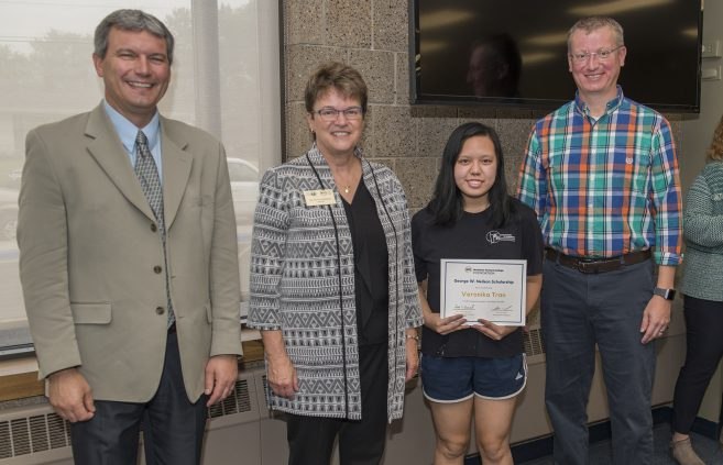 Veronika Tran received the George W. Neilson Scholarship.