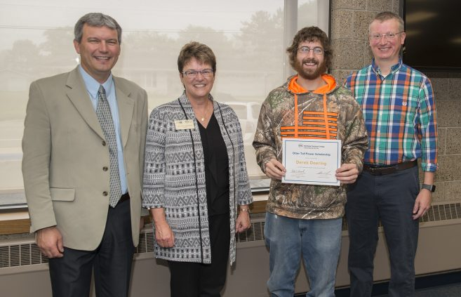 Derek Doering, received the Otter Tail Power Scholarship.