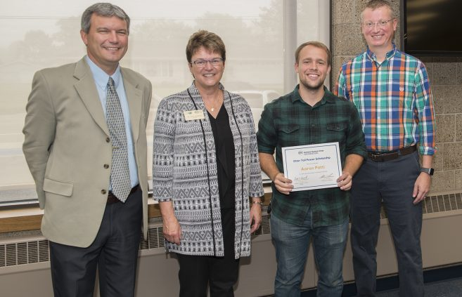 Aaron Patti received the Otter Tail Power Scholarship.
