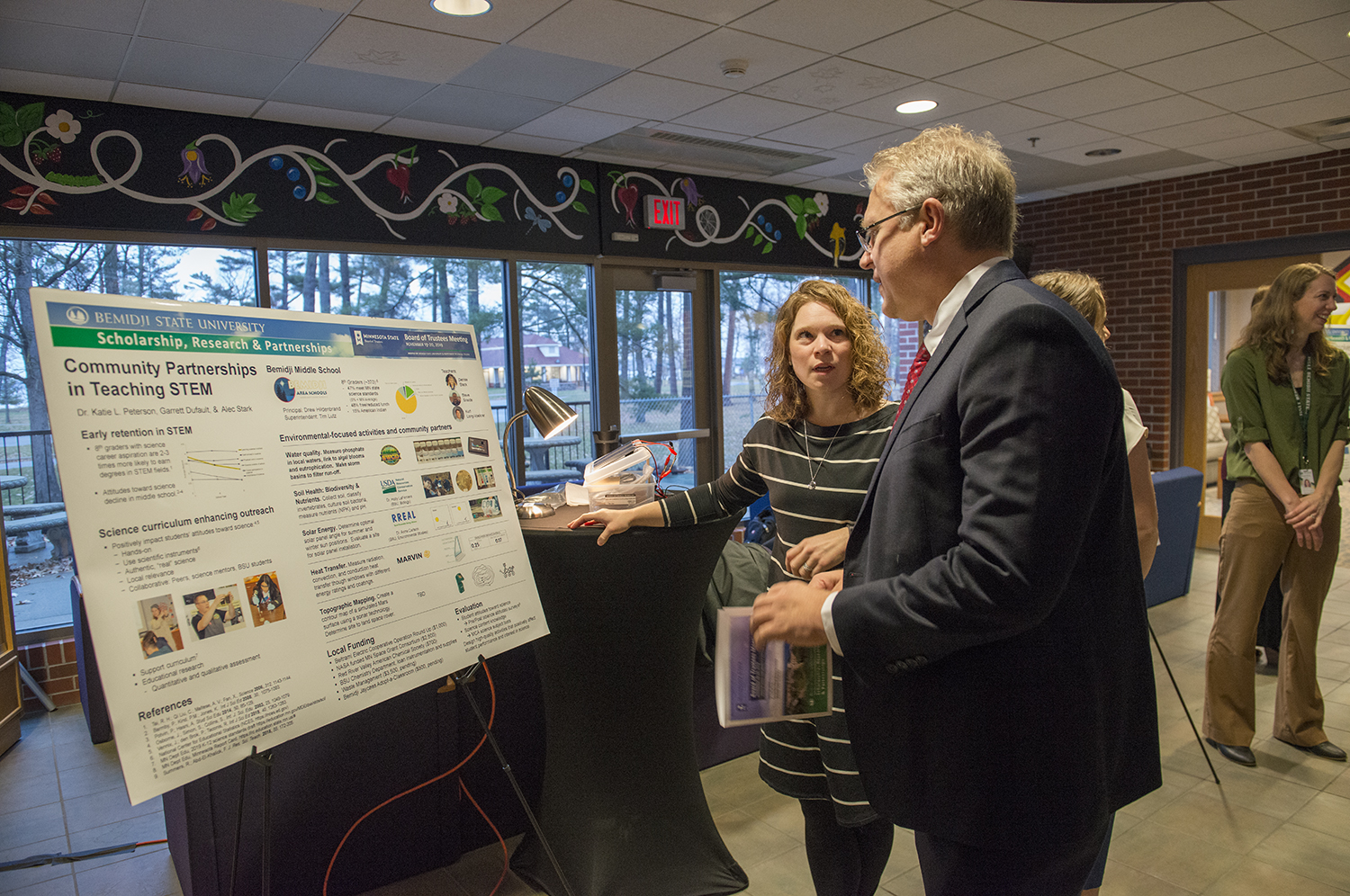 Trustees explored a showcase of BSU's latest research.