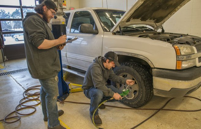 NTC's Automotive Service and Performance program held a car winterization clinic for the Bemidji community in conjunction with the Day of Giving and local sponsors.