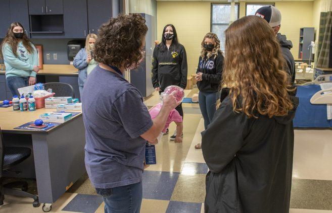 Bemidji High School students tour NTC health care labs.