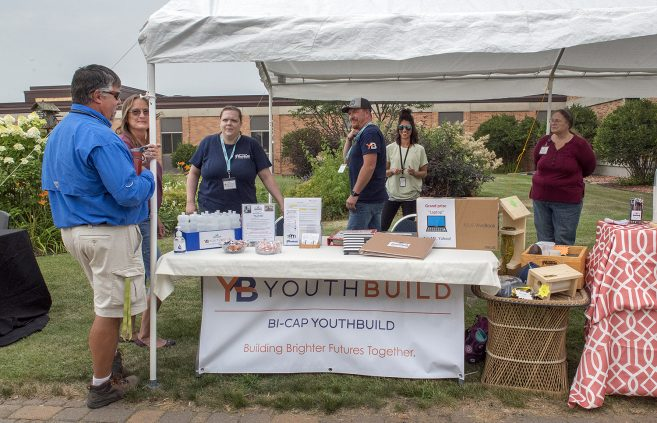 YouthBuild table on NTC campus.