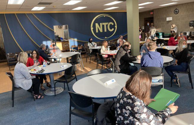 Scholarship Recipients in NTC's Cafeteria