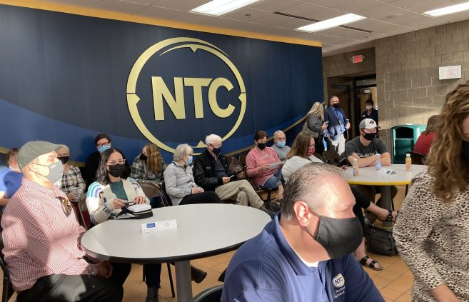 Scholarship Recipients and family members in NTC's Cafeteria